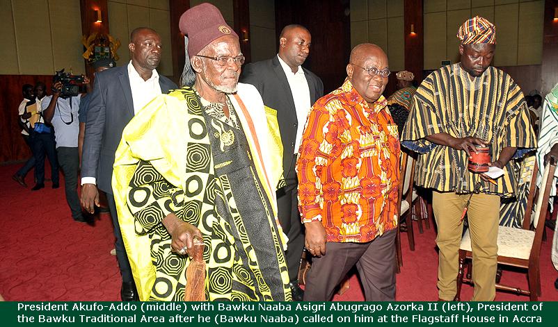 President Akufo Addo with Bawku Naaba